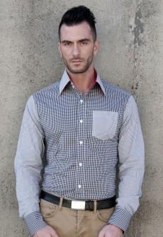 Esposito Gingham Stripe Button Down
