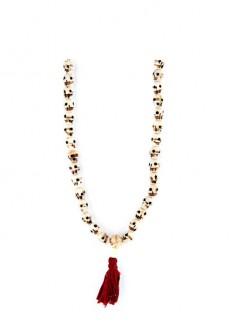 Karma Mantra Skull Stone Necklace