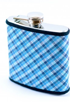 Blue Plaid Flask by Keelan Rogue
