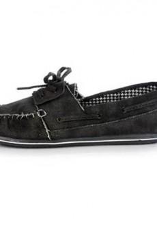 Riva Black Boat Shoe by Hey Dude
