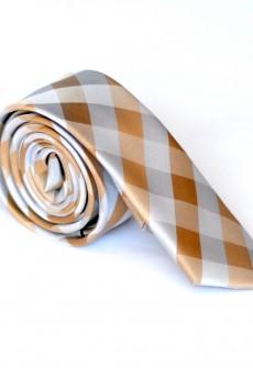 Riddle Me Orange Necktie by Skinny Tie Madness