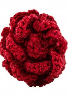 Red Flower Lapel Pin by Sebastian Cruz
