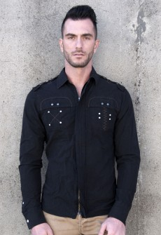 Esposito Antique Black Zip Down