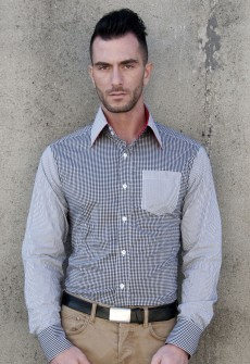 Esposito Gingham Stripe Button Down