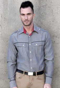 Esposito Blue Chambray Button Down