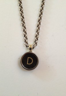 Vintage Letter Key Necklace by Initial&Sign (Multiple Letters)