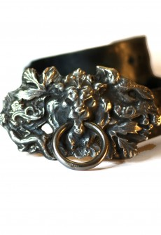 Lion Knocker Buckle with Leather Belt by Perry Gargano