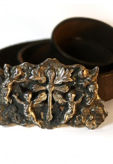 Cupids & Cross Buckle with Leather Belt by Perry Gargano