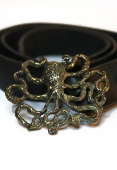Octopus Buckle with Leather Belt by Perry Gargano