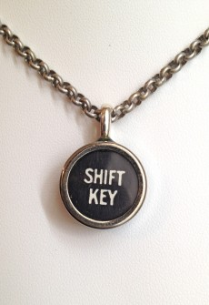 Vintage Shift Key Necklace by Initial&Sign