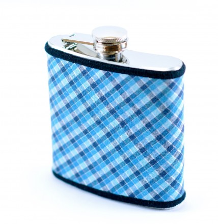 Blue Plaid Flask_RP