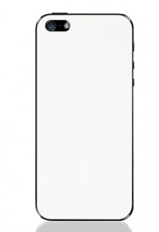 White iPhone 5 Leather Back by Valentine Goods