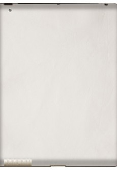 White iPad Leather Back by Valentine Goods