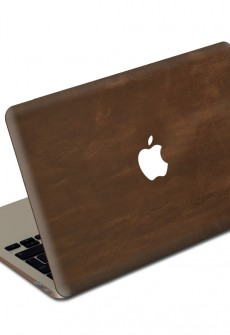 Auburn MacBook Leather Cover by Valentine Goods