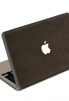 Espresso MacBook Leather Cover by Valentine Goods