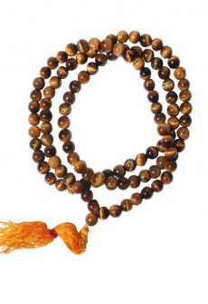 Karma Mantra Tiger Eye Mala Necklace