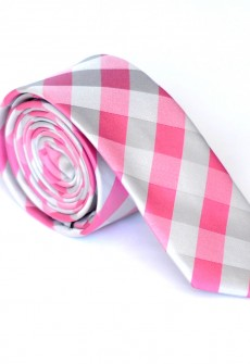 Riddle Me Pink Necktie by Skinny Tie Madness