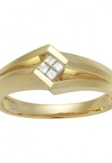 Monolith 14kt Yellow Gold Men's 1/6 CTW Diamond Wedding Band (H-I, I1-I2)