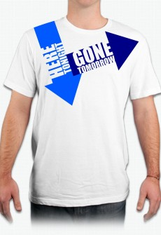 Here Tonight\Gone Tomorrow Organic Tee by Henry james