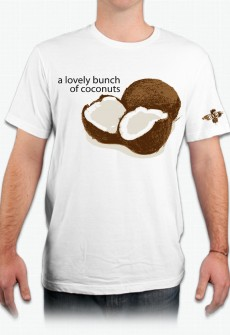 Lovely Bunch of Coconuts Organic Tee by Henry James