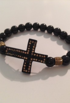 Double Stud Cross Bead Bracelet By Janette J