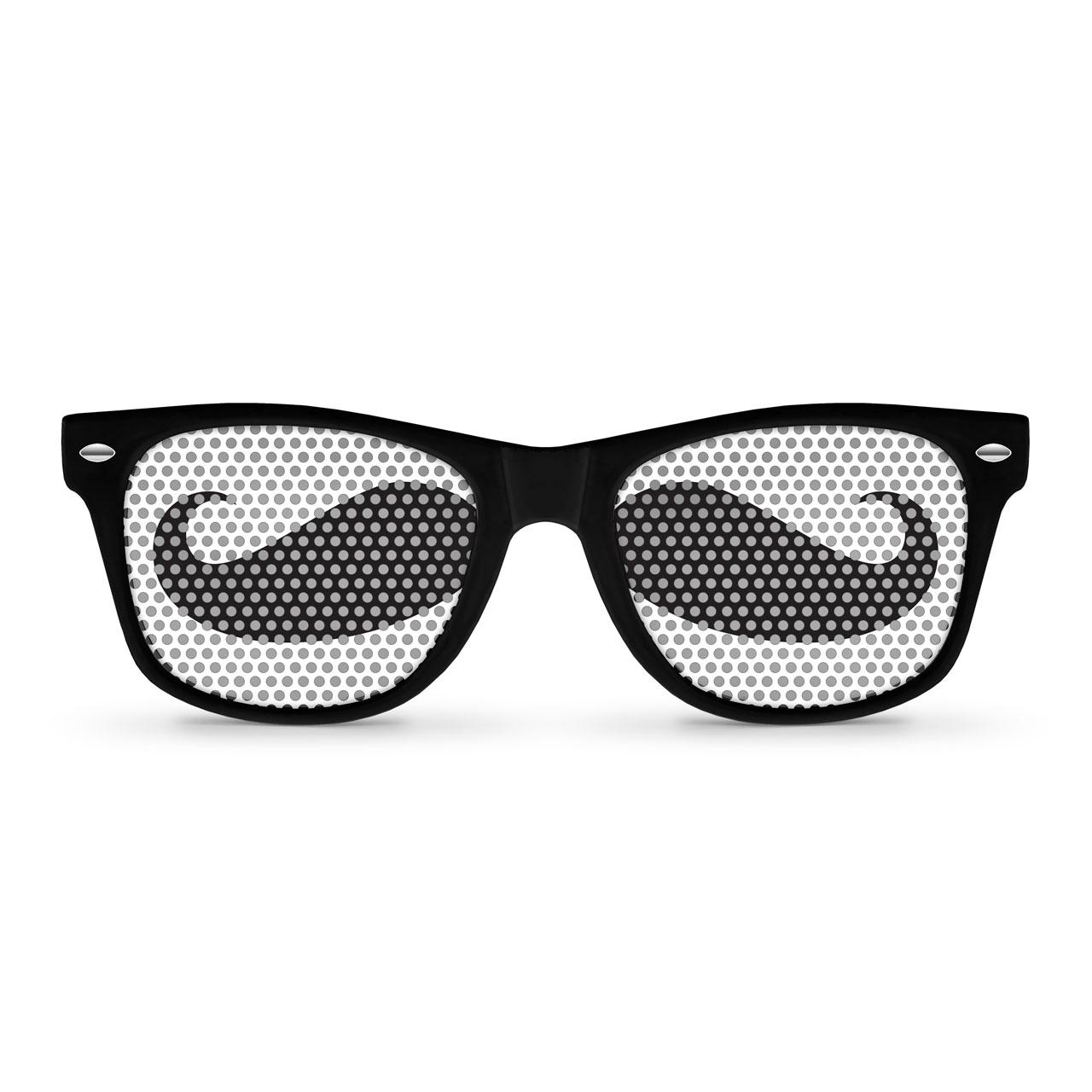 01d4f7da27c Eyepster  MUSTACHE Black Wayfarer by Eyepster. WF-BLK-MUSTACHE