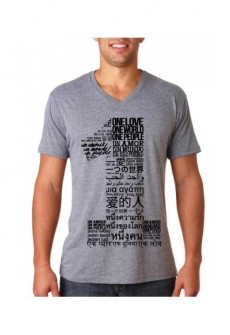 Oneness Fitted Blend V-Neck Tee by TransElated