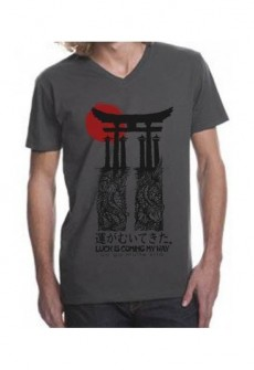 Japan Fitted V-Neck Tee by TransElated