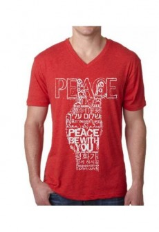 Peace Fitted Blend Tee by TransElated