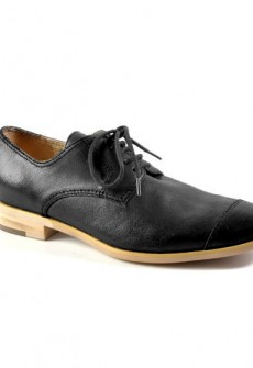 ALL BLACK by ACL Black Cap Toe Shoe