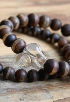 Broken Gypsy Brown Agate Elephant Bracelet