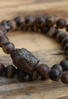 Broken Gypsy Brown Agate Buddha Bracelet