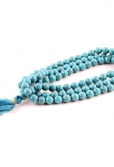 Karma Mantra Turquoise Japa Mala
