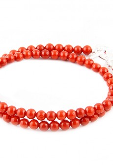 Karma Mantra Red Coral Wrap Bracelet
