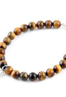 Karma Mantra Buddha's Palm Tiger's Eye Bracelet