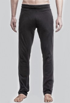Number Lab Piped Jersey Pant in Black
